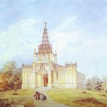 Alexander Brulloff (1798 - 1877)   Church of St. Catherine in Pargolovo  Watercolor on paper, C.1831  The Hermitage, St. Petersburg, Russia